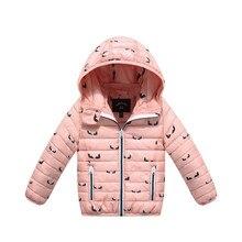 Новый 2017 Детей Зимние Куртки для Девочек Хлопка-проложенный Парки С Капюшоном Пальто Дети Верхняя Одежда Теплый Ватные Куртки Осень Пальто