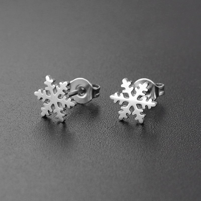 Stainless Steel Stud Earring For Women Man Snow Gold And Silver Color Lover's Engagement Jewelry Drop Shipping