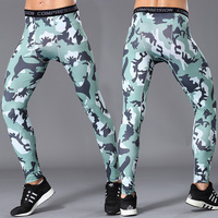 Pro Men Fitness Fast Dry Bottoming Pants Sweat Compression Tights Camouflage Pants Leggings
