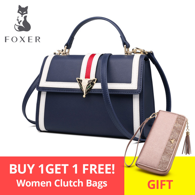 68ca584cd FOXER Brand 2019 New Design Office Gentlewoman luxury Stylish Shoulder Bags  & Totes Female Large Capacity Leather Messenger Bags