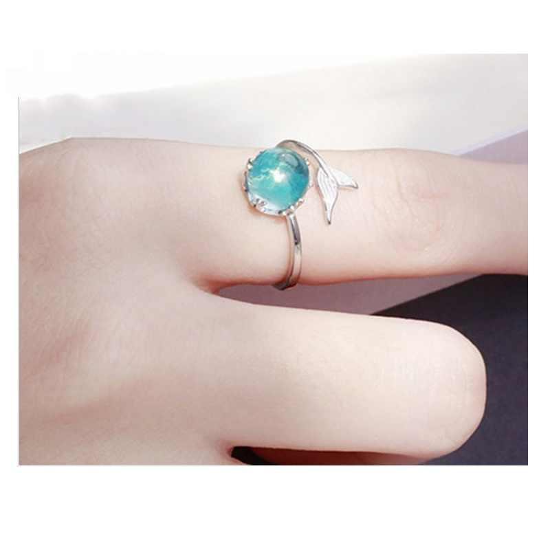 แฟชั่น Mermaid โฟมแหวนเปิดปรับ Fishtail แหวนขายส่งราคา