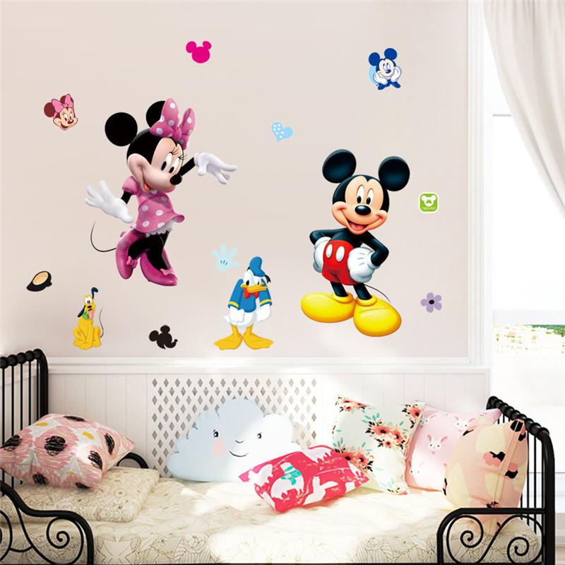 HTB1AppGLVXXXXa8XpXXq6xXFXXXb - Cartoon Mickey Minnie Mouse wall sticker for kids room