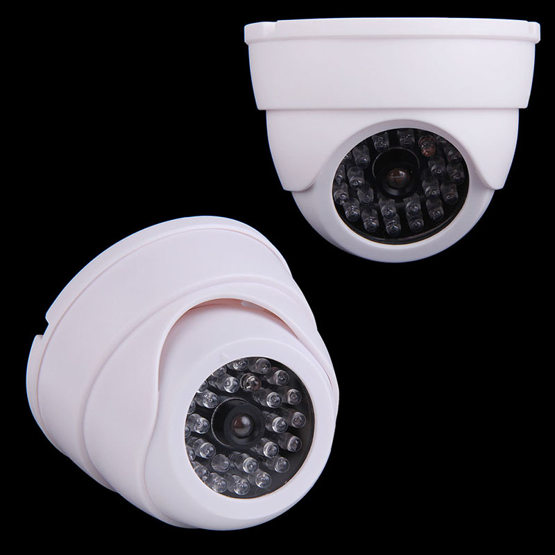 2019 High Quality Dummy Fake Simulation Security Dome Camera with Flashing LED Light <font><b>Video</b></font> Surveillance Home Office Safety Parts image