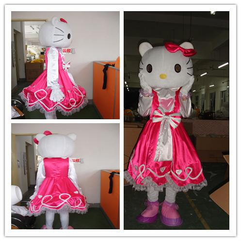 The quality of the mascot install hello Kitty, Kitty costume mascot Halloween carnival costume, free shipping