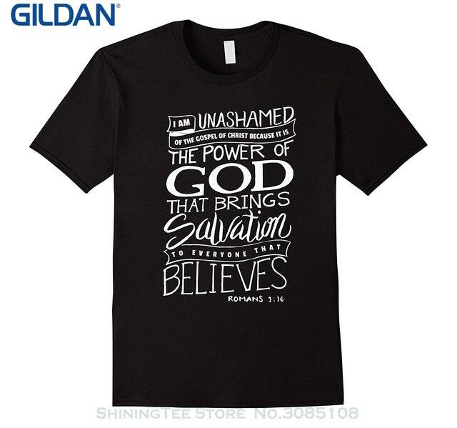 GILDAN New Design Cotton Male Tee Shirt Designing I Am Unashamed Of ...