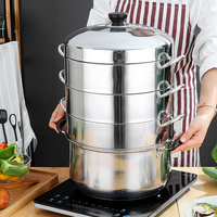 Efficient Energy Saving Household Stainless Steel Multilayer Pot Steamer Multi Purpose Sauna Steam Kettle Cooker Cookware