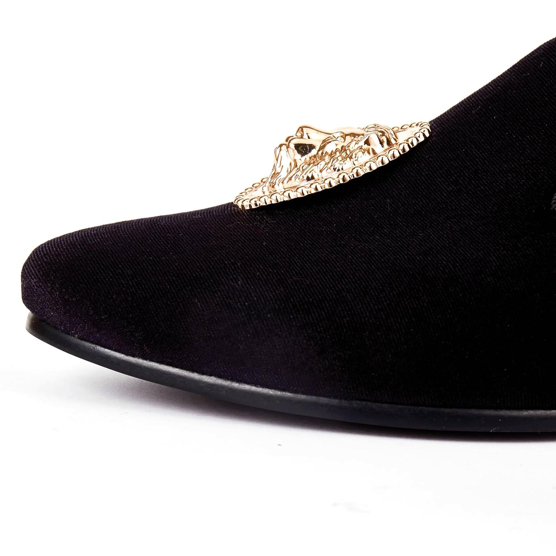 1399d3645193aa Harpelunde Animal Buckle Men Formal Shoes Green Velvet Loafer Shoes ...