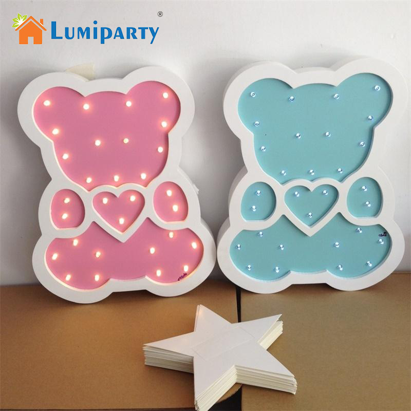 LumiParty Bear Shape LED Night Light Cute Creative Decoration for Children's Hallowmas Christmas Best Gift jk30 creative home decoration victory gesture shape led night light