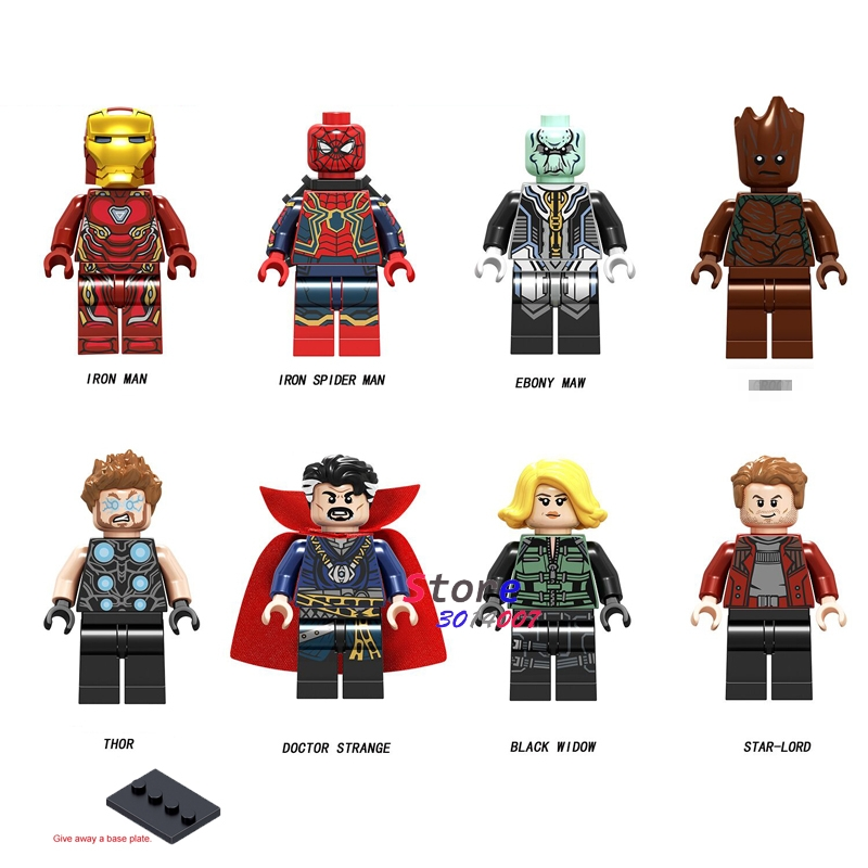 50pcs Model building blocks Infinity War Iron Man 50 Spider Man Ebony Maw Thor Doctor Strange
