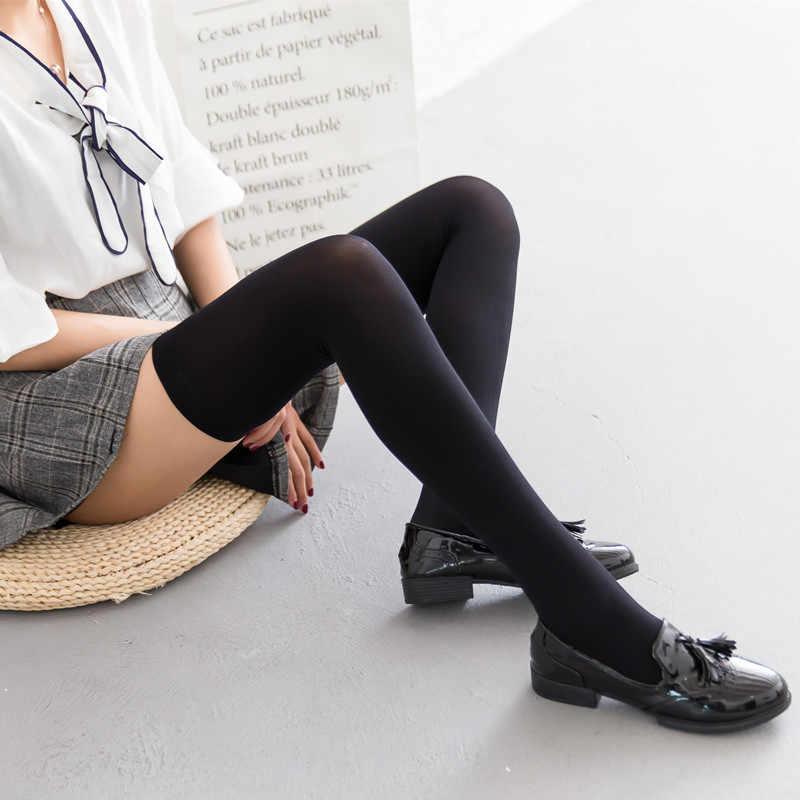 40a454cb19f ... 25-27 INCHES NUDE BLACK WHITE women girl Lolita stockings SUPER long  STOCKING socks COSPLAY ...