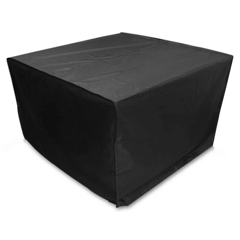 Oxford Kain Furniture Tahan Debu Cover untuk Meja Rotan Kubus Kursi Sofa Tahan Air Hujan Taman Teras Outdoor Pelindung Case Hitam