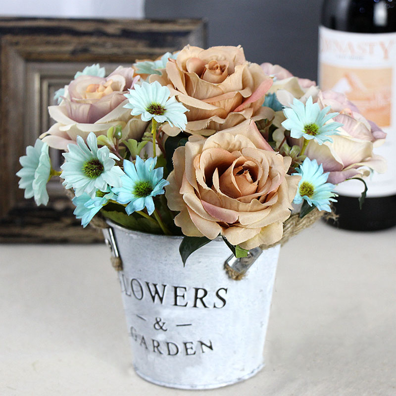 roses artificial flower bouquet wedding home decor (23)
