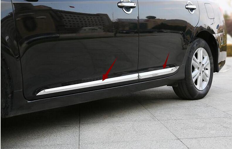 Car Accessories For Toyota Camry 2018 Outer ABS Side Door Body Moulding Streamer Strip Cover Trims Decoration 4Pcs стоимость