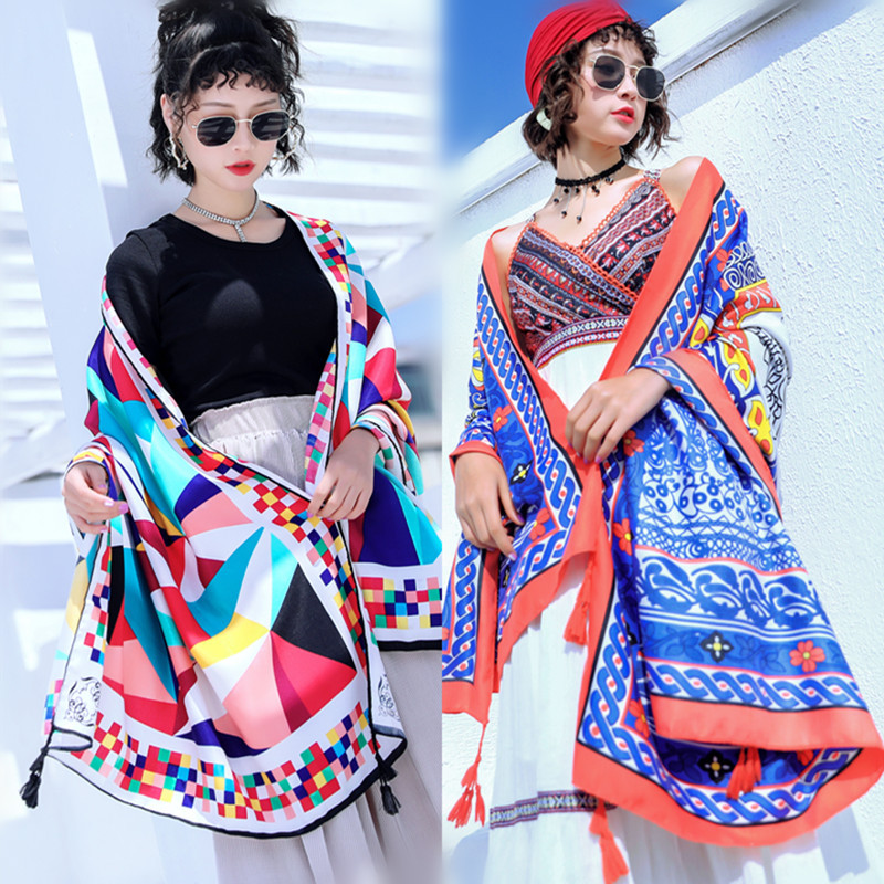 40 Kinds Of New Ethnic Style Cotton Bali Yarn Scarves Promotional Printing Multi-function Sunscreen Shawl Scarf 2019