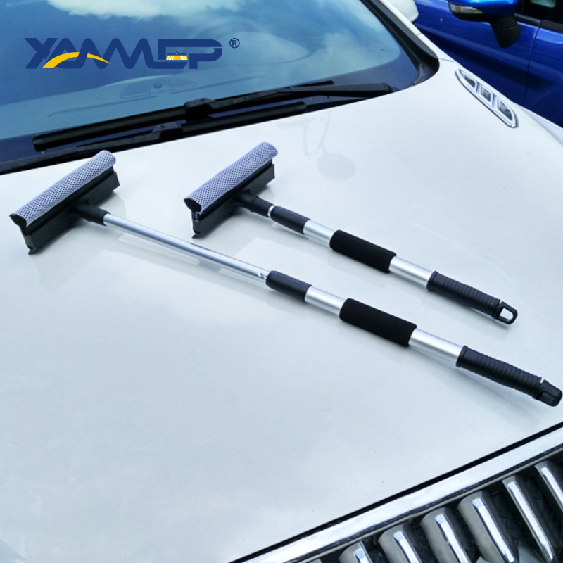 Car Wash Brush Window Squeegee Car Wash Sponge Cleaning Windows Telescopic Pole Car Accessories Car Cleaning Tools Xammep