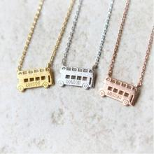 Daisies One Piece Pendant Necklace London Double Decker Bus Necklace London Bus Necklaces Pendants For Women