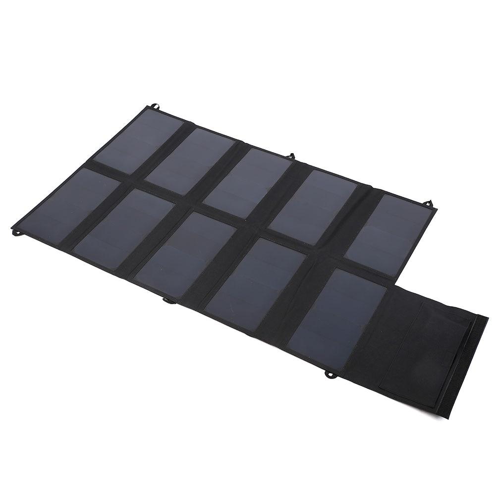 New 5V&12V Foldable Solar Panel Charger Charger For Phones Tablets Laptops