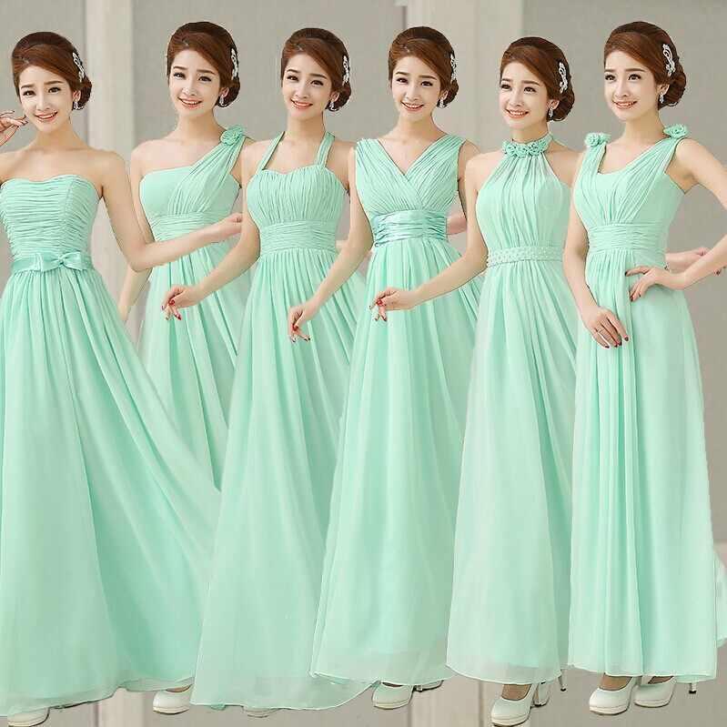 Pastel-menta-verde-dama-de-honor-vestido