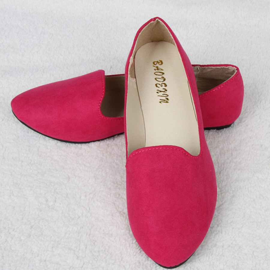 New spring summer fashion hot women casual suede fabric flats cute girls  flats Simple Comfortable Slip on Sweet candy colors-in Women s Flats from  Shoes on ...