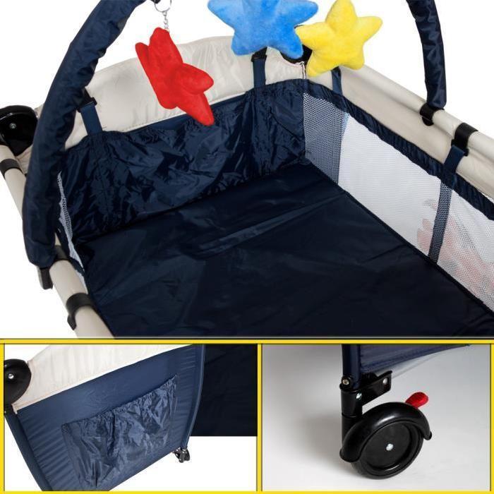 Lit bébé pliant multifonctionnel Portable lit bébé avec couches Table à langer voyage enfant jeux lits pour berceau bébé HWC - 4