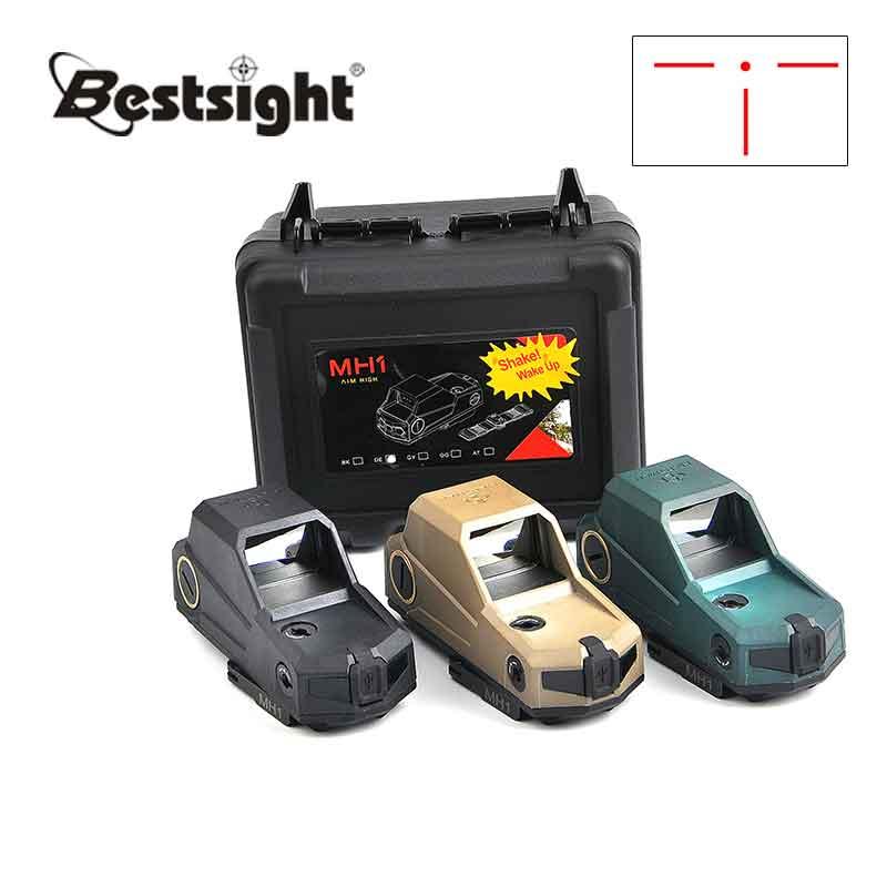 Mh1 red dot sight sensor de movimento duplo reflex escopo grande campo com qd rápida destacam e carregador usb para a caça tático airsoft
