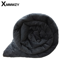 New American Style Weighted Blanket Grey Crystal Velvet Quilted Duvet Cover Decompression Air Insomnia Conditioning Cotton Quilt