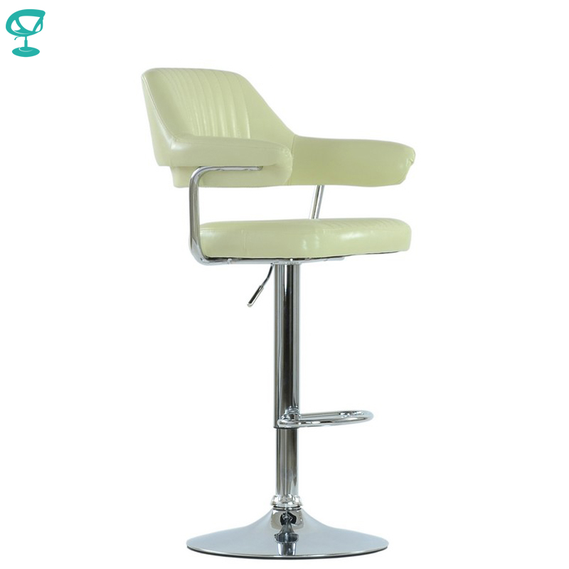 94533 Barneo N-152 Leather Kitchen Breakfast Bar Stool Swivel Bar Chair Cream Color Free Shipping In Russia