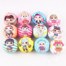 30pcs! -rare squishy dress surprise girl ball mixed 6cm cute phone charm slow rising squeeze toy 6style mix squishies wholesale(China)
