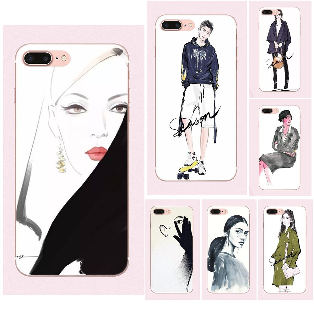 Fashion <font><b>Sexy</b></font> Modern <font><b>Lady</b></font> Girl Pattern For Galaxy Grand A3 A5 A7 A8 A9 A9S On5 On7 Plus Pro <font><b>Star</b></font> 2015 2016 2017 <font><b>2018</b></font> image