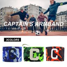 New High Elastic Comfortable Soft Soccer Captain Nylon Armband Football Bands Adjustable Green Camouflage Breathable Band