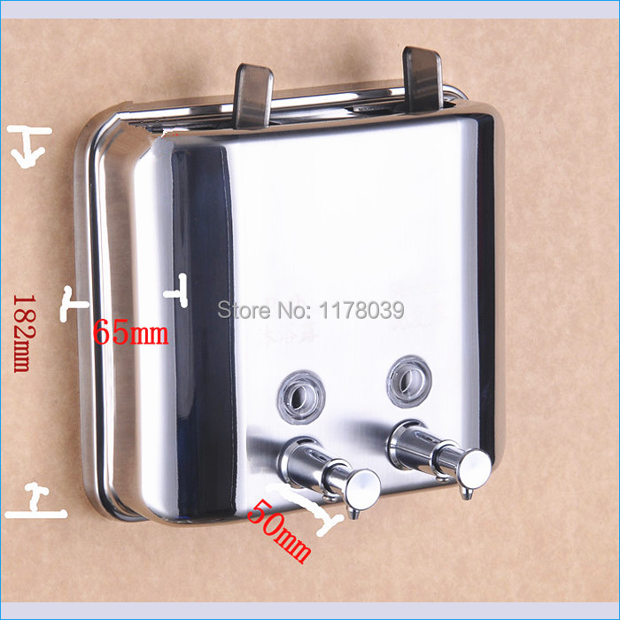 stainless steel shower shampoo mounted double soap hand soap dispenser