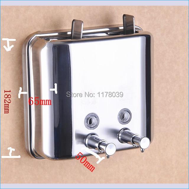 Stainless Steel Shower Shampoo Dispenser,wall Mounted Double Soap Dispensers,1500ml  Hand Soap Dispenser