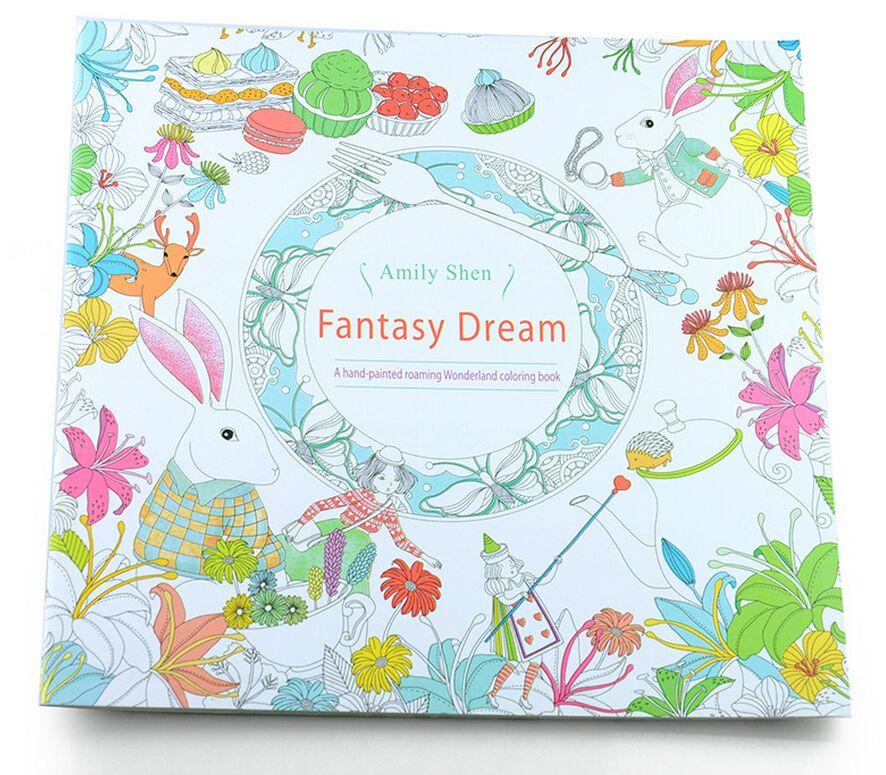√Fantasía sueño 24 páginas edición en inglés libro para colorear ...