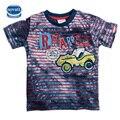 Novatx camiseta meninos moda xadrez crianças t-shirts menino roupas de verão crianças t camisa para a roupa dos miúdos 2016