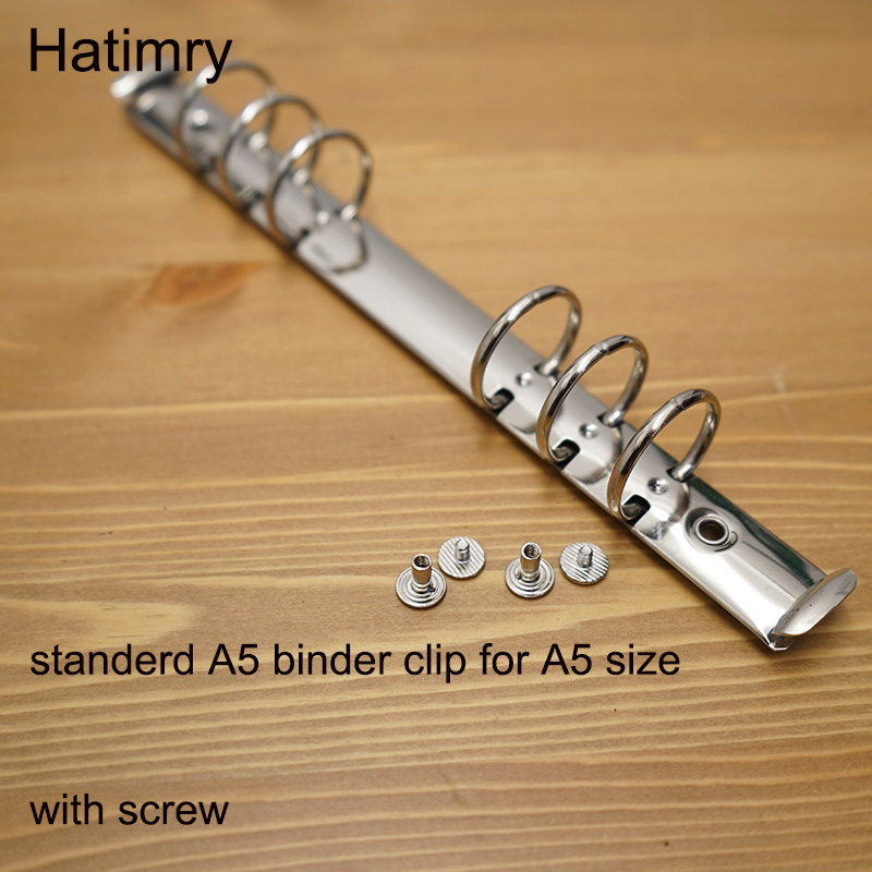 DIY Standerd A5 3cm Rings Binder  Clip For Sprail Notebook Sliver Color A5 Notebook Genuine Leather Notebook Binder Clip