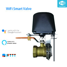 Wifi Smart Water Valve Smart Home Automation System Valve For Gas Water Control Work Amazon alexa,Goole Assistant,IFTTT(China)