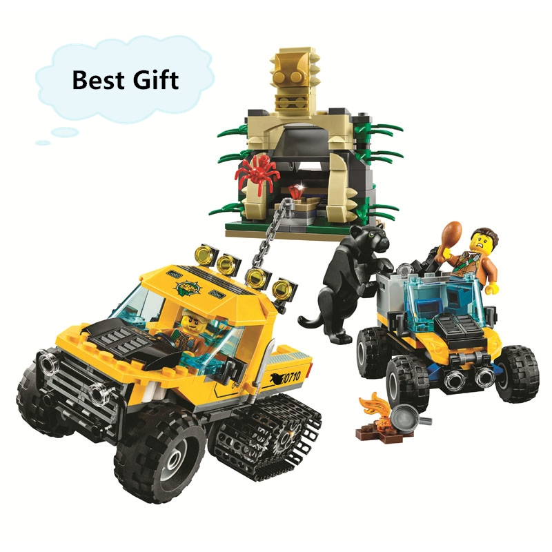 Hot Sale City Series Jungle Halftrack Mission building blocks Educational Toys For Children Compatible with Lego Best Gift 0367 sluban 678pcs city series international airport model building blocks enlighten figure toys for children compatible legoe