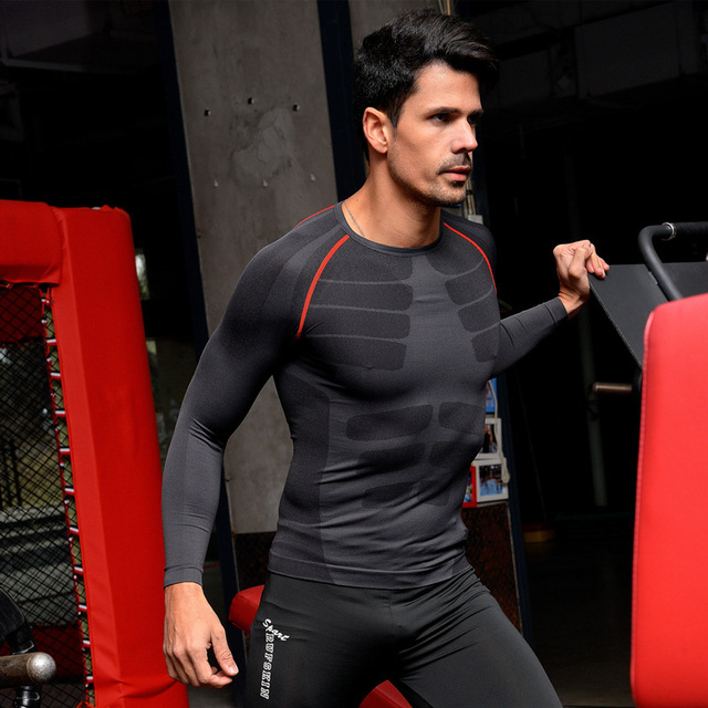 Men's Body Shaper  Long Sleeves Quickly Dry Slimming Shirt Tummy Waist Tops  Underwear Fat Burning Lose Weight