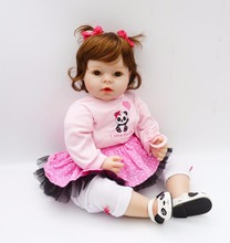 20″ girl doll reborn silicone vinyl children play house toys bebe gift boneca reborn silicone reborn baby bebe doll