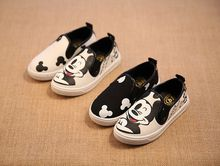 2017 new spring and autumn children's casual shoes boys and girls cartoon children's canvas shoes