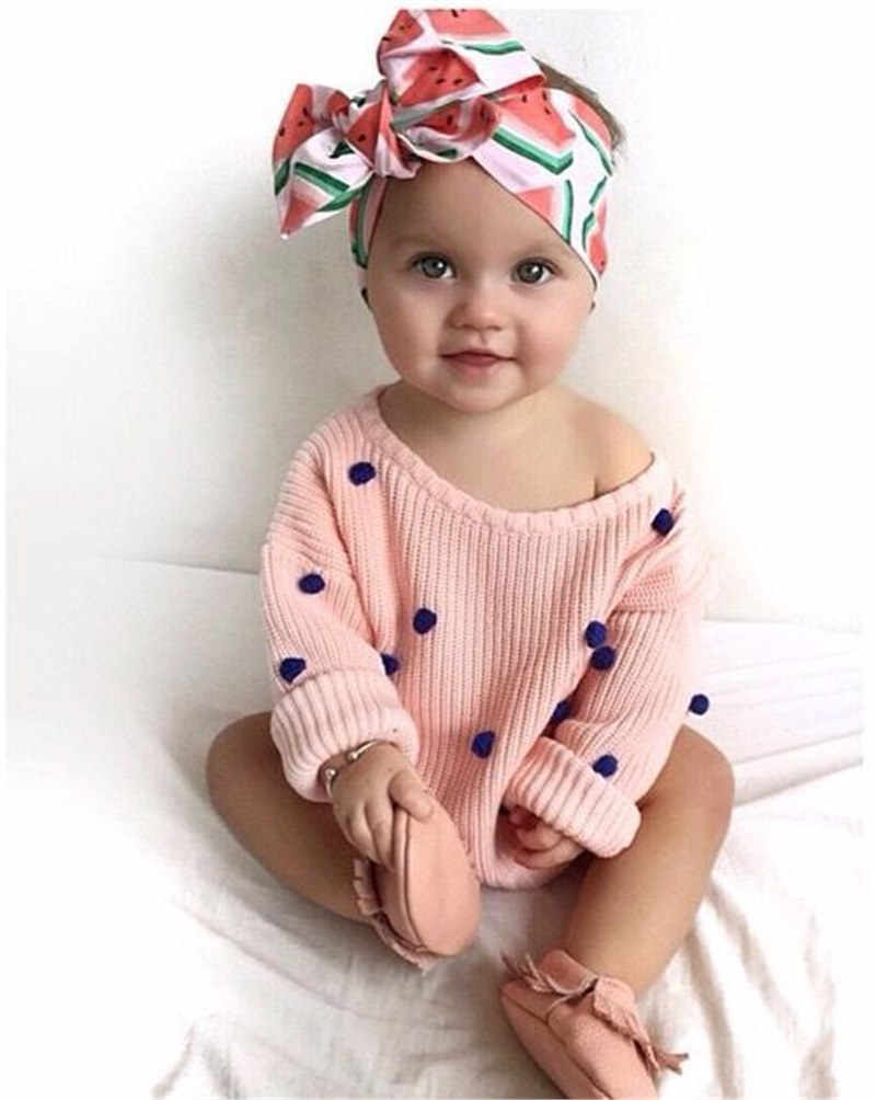 DIY Baby Girl Headbands Flower Fruit Printed Infant Headdress Babes Hair Accessories