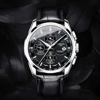 Carnival Wrist Watch for Men 2018 Automatic Self-Wind Week ,Complete Calendar,Months,Hours Waterproof Luxury Brand Mens Watches - DISCOUNT ITEM  50% OFF All Category