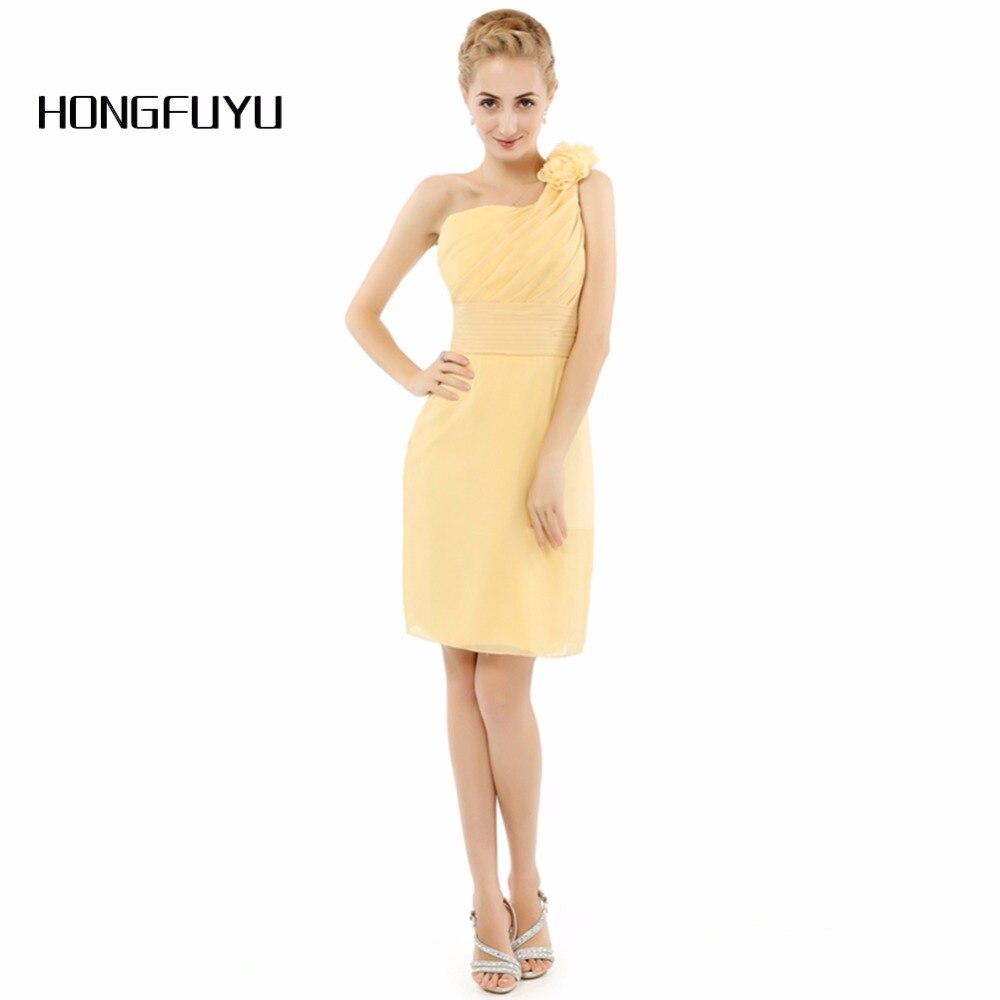Amarillo un hombro vestido de dama de honor gasa cuentas del partido  Vestidos volver a los detalles de productos relacionados df5205458f87