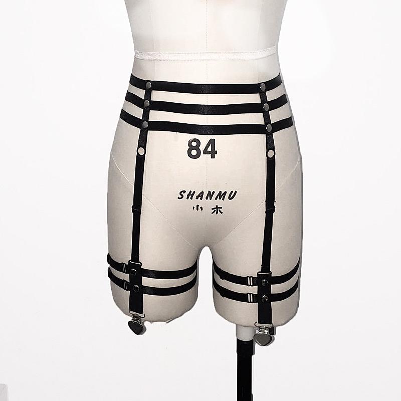 HTB1ApuCQFXXXXckaXXXq6xXFXXXL Sexy Bondage Fetish Wear Lingerie Elastic Band Stockings Garter Belt For Women