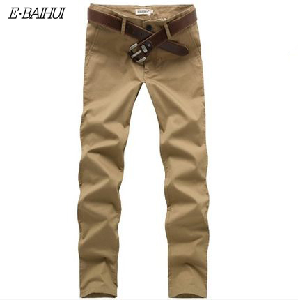 E-BAIHUI brand 2016 new Fashion Men long Pant  Linen Men casual Pants Flat Pockets Business Pants Full Cotton Pants  K064
