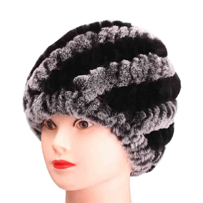 Winter Hats Women Genuine Rex Fur  Rabbit for Girls Skull Cap Real Knitting Skullies Beanies knitted hat female russian цена 2017