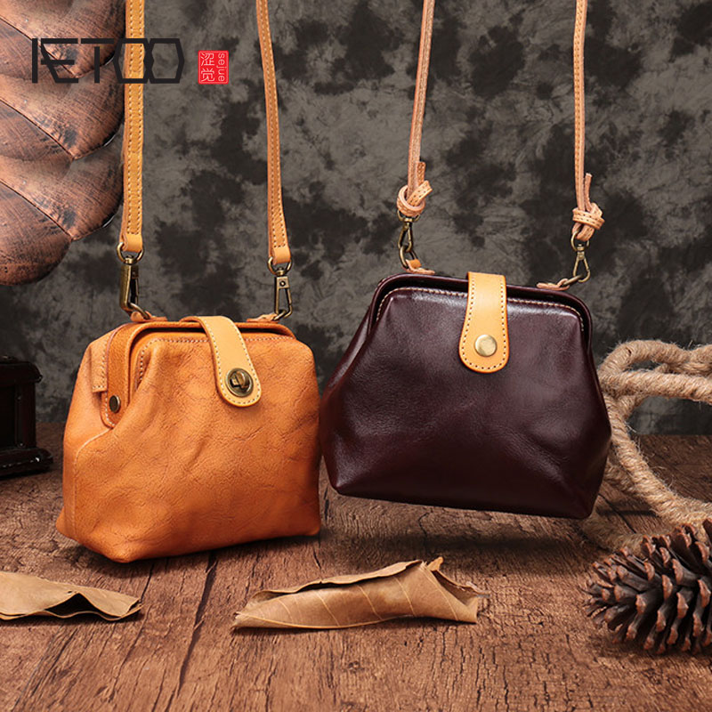 AETOO The first layer of leather handbags new summer small bag mini shoulder Messenger bag retro soft leather female doctor bag men fashion cobra electronic digital watch sport jelly silicone women dress wrist watches children clock relogio masculino