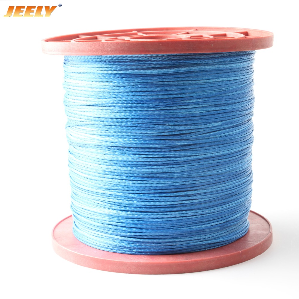 Free shipping 1000m 1500lb 2 5mm 12 strand uhmwpe hollow braided wakeboarding towing rope