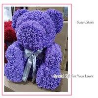 Специальный подарок поделки ручной работы Роза медведь гигантская мыло цветок Неувядаемый цвет медведь кукла подарок на день рождения для