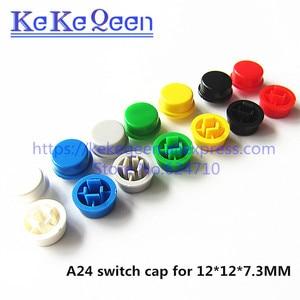 Image 2 - 1000 قطعة/الوحدة جولة التبديل زر كاب A24 يمكن استخدامها مع 12*12*7.3 التبديل (7 ألوان)